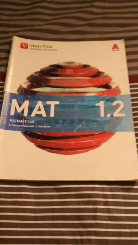 Imagen libros de matemáticas de 1º de la ESO editorial Vicens Vives