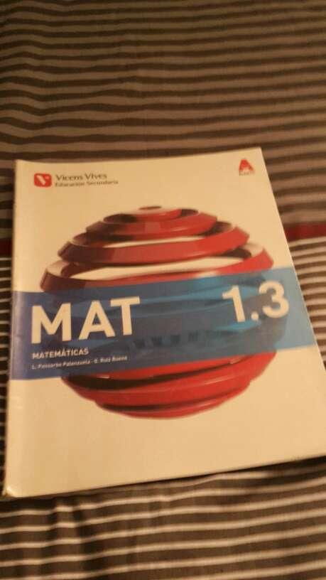 Imagen producto Libros de matemáticas de 1º de la ESO editorial Vicens Vives 3