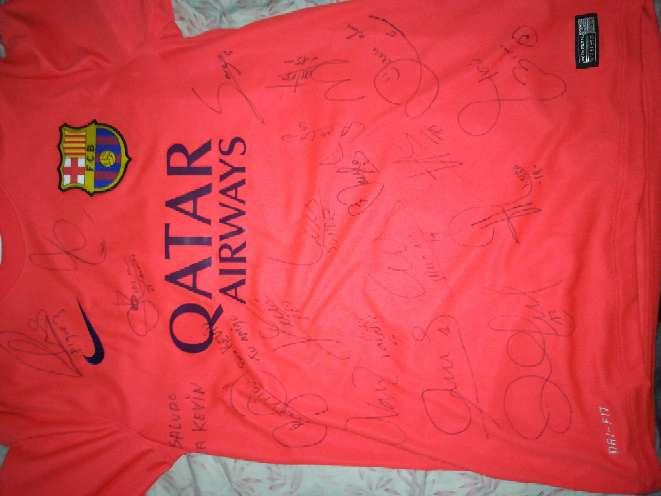 Imagen Camiseta del Barcelona 2015 firmada