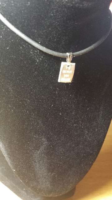 Imagen producto Colgante de lingote de plata pura 999  2