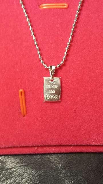 Imagen producto Colgante de lingote de plata pura 999  4