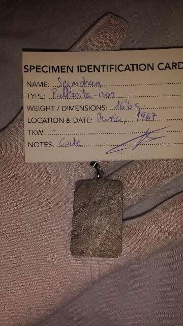 Imagen producto Colgante lámina meteorito  8