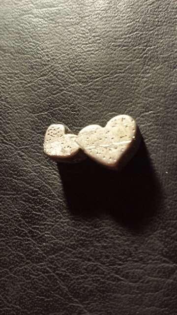 Imagen producto Meteorito corazón doble único  4