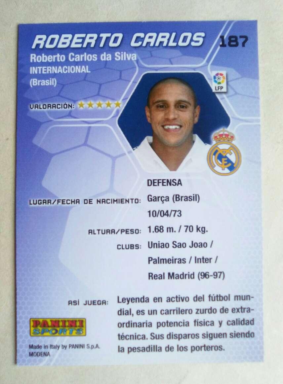 Imagen producto Roberto Carlos card  2