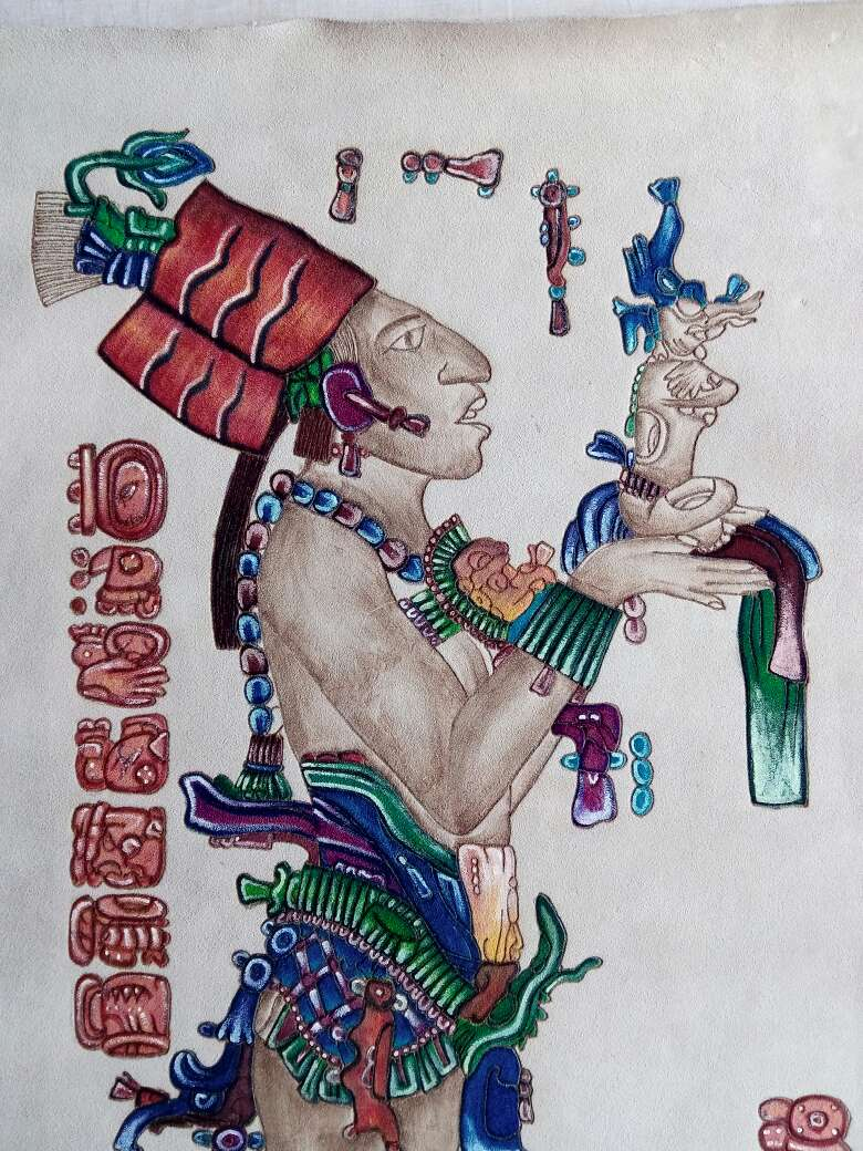 Imagen Pintura sobre cuero grabado