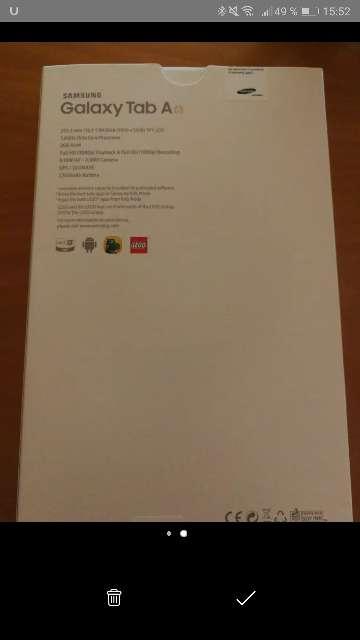 Imagen producto Samsung Tab A6 32 GB  1.6 GHz  Blanco  2