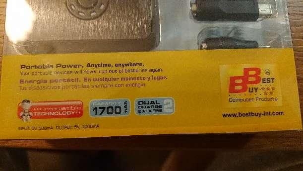 Imagen producto Power bank 2x1700 mAh dual  4