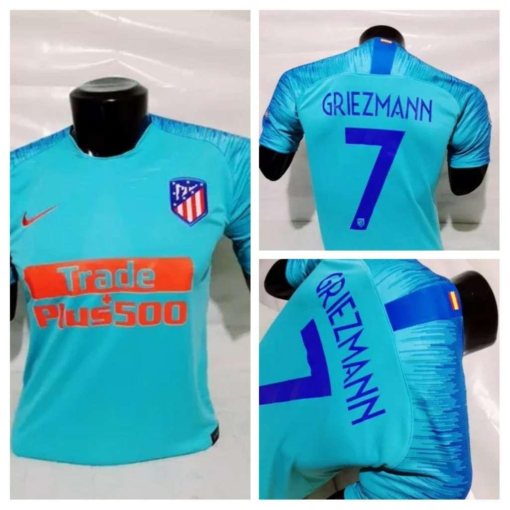 Imagen producto Camisetas Atlético de Madrid azul 2019  2
