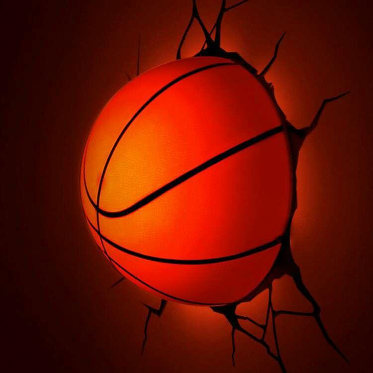 Imagen Lampara 3d LED baloncesto