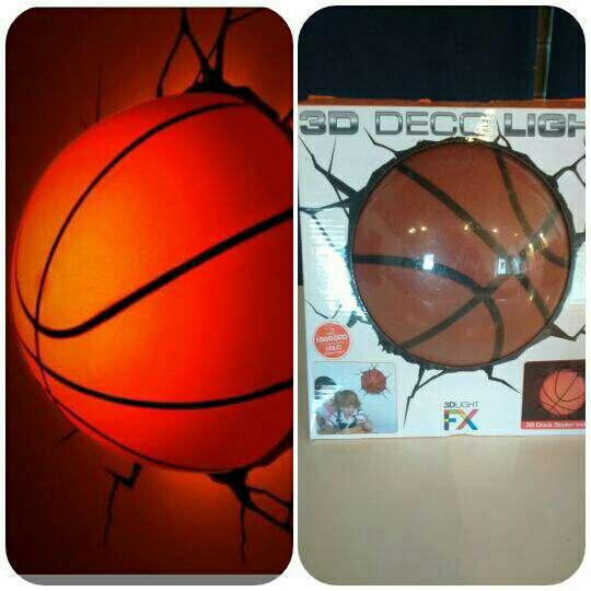 Imagen producto Lampara 3d LED baloncesto 2