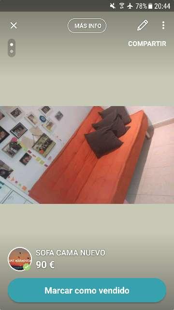 Imagen producto Sofa cama nuevo 1
