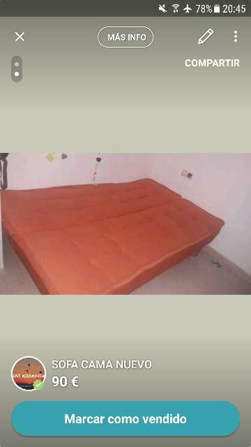 Imagen producto Sofa cama nuevo 2