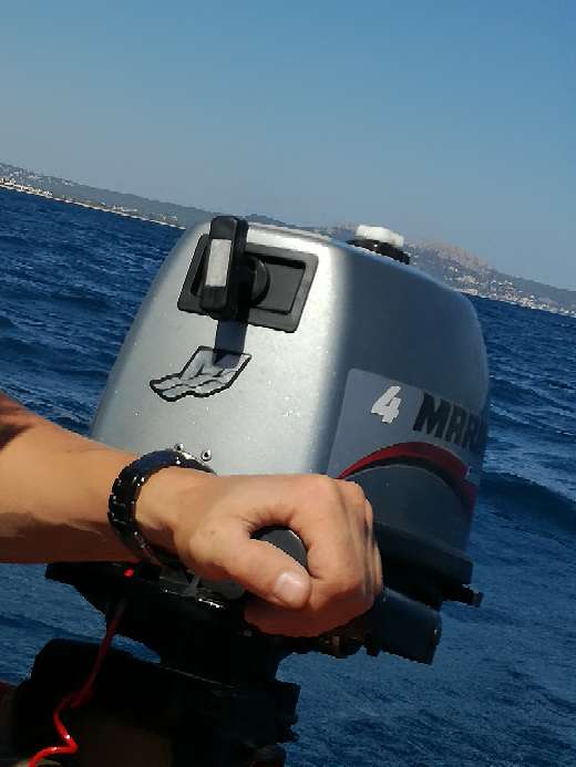Imagen producto Barca de 2'6 con motor 4cv 6