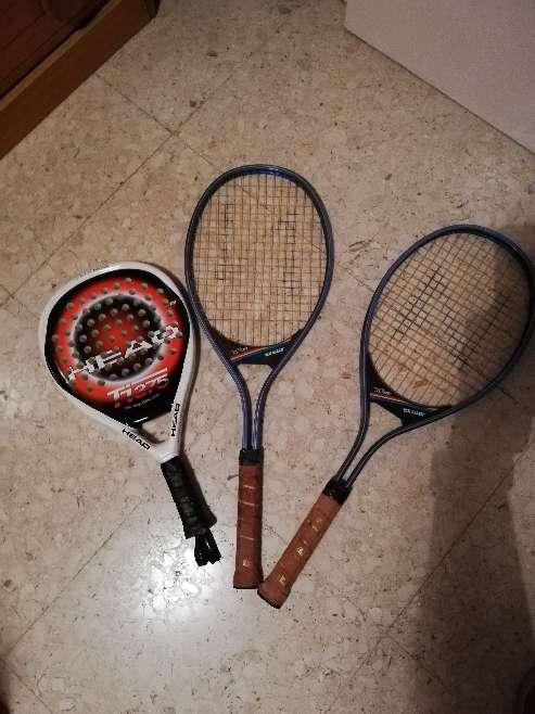 Imagen raqueta pádel y  tenis