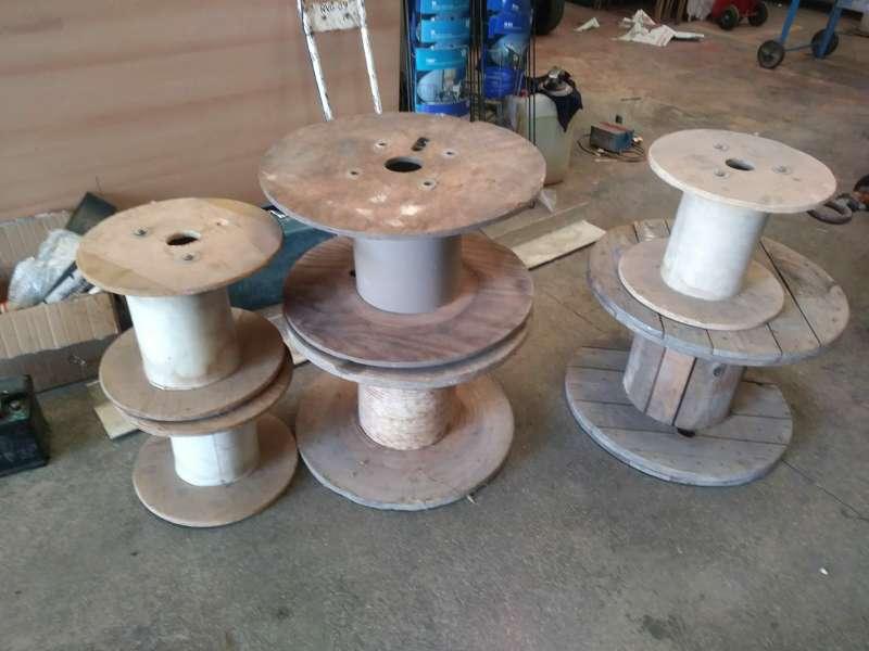 Imagen carretes de madera
