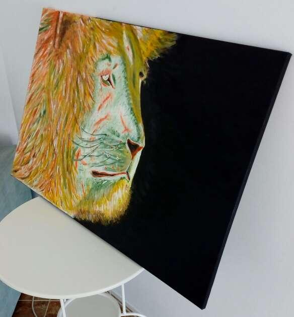 Imagen producto Cuadro acrilico leon 2