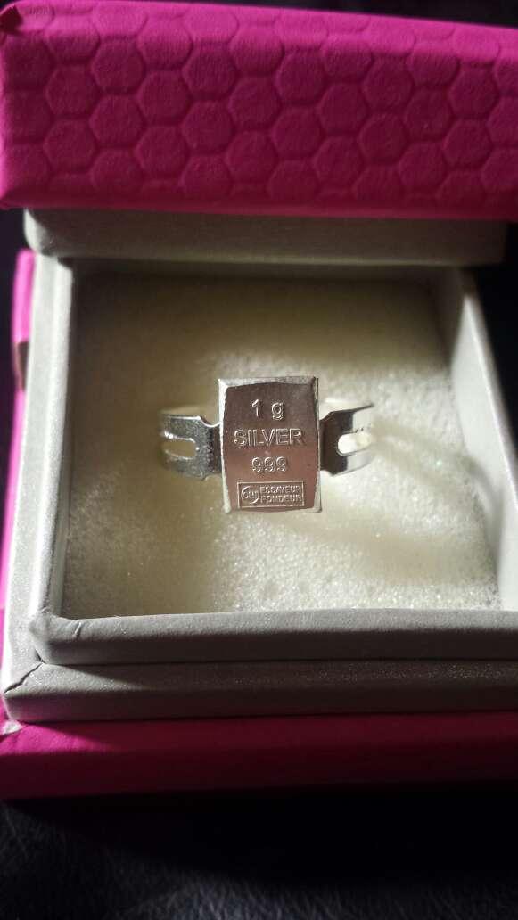 Imagen producto Anillo, plata pura 999 lingote  3