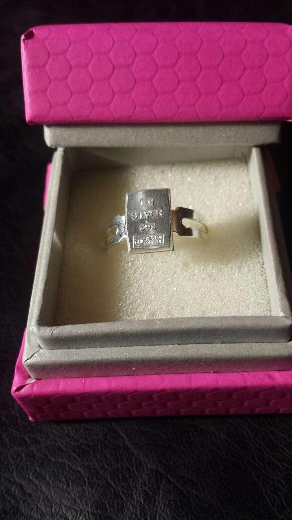 Imagen producto Anillo, plata pura 999 lingote  4