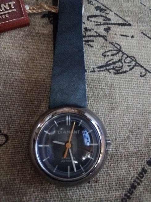 Imagen producto Reloj Diamant mujer cuerda vintage nuevo  1