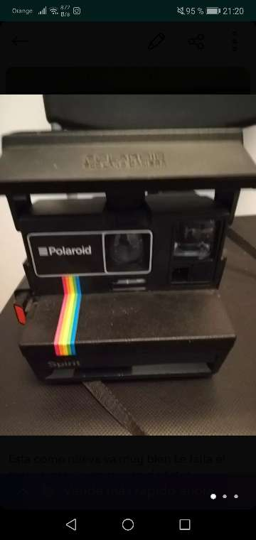 Imagen camera pollard 600 camera con impresión de fotos