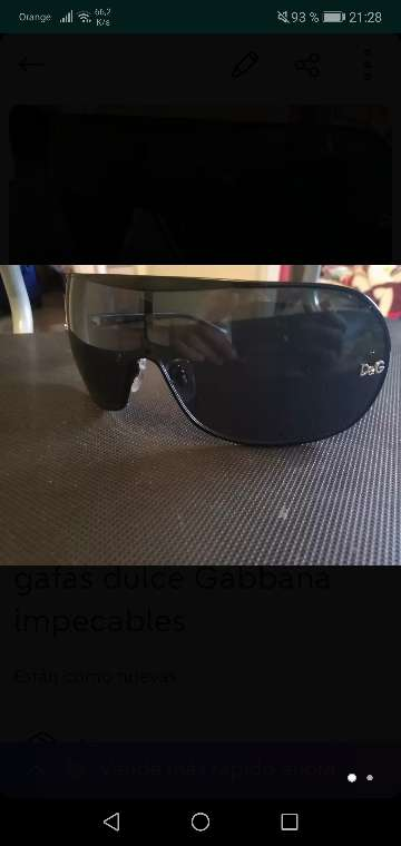 Imagen gafas dulce Gabbana impecables