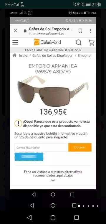 Imagen Gafas emporion armani
