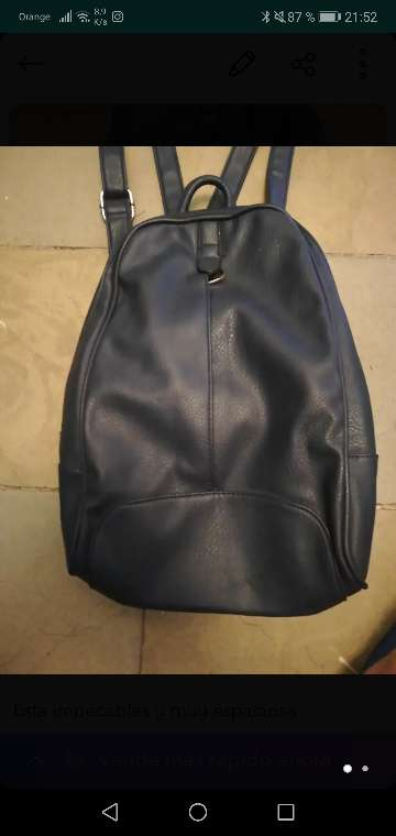 Imagen mochila federika collection de cuero como nueva