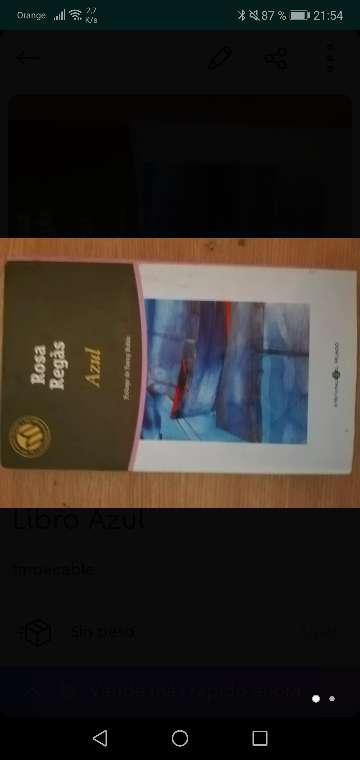 Imagen Libro azul en buen estado de rosa regas