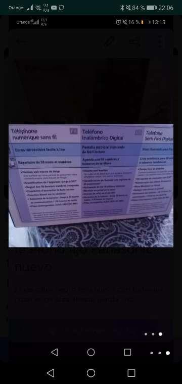 Imagen producto Teléfono fijo Panasonic nuevo 3