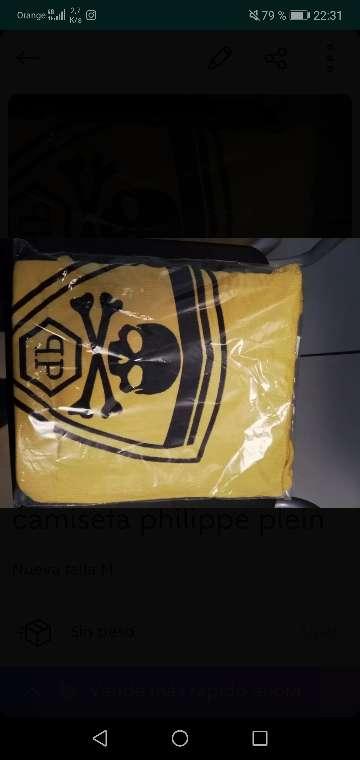 Imagen Camiseta philipp plein amarilla talla M nueva
