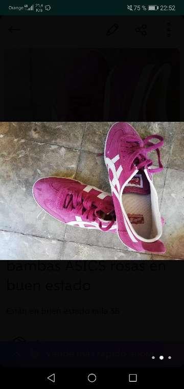 Imagen producto Bambas ASICS rosas en buen estado 3