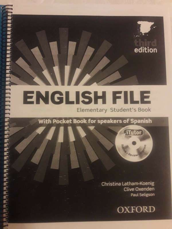 Imagen producto Libro English File Elementary 1