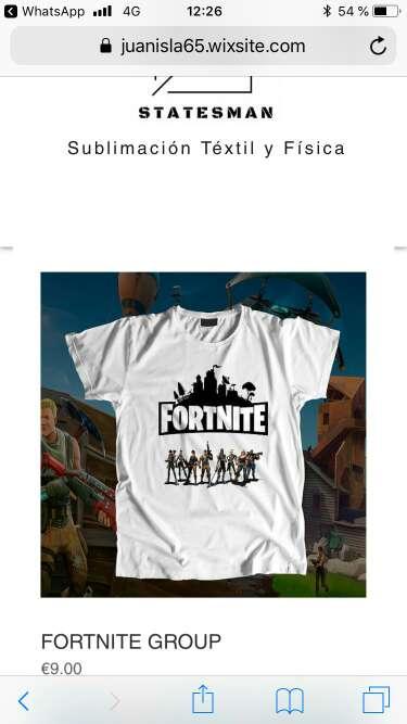 Imagen camisetas fortnite