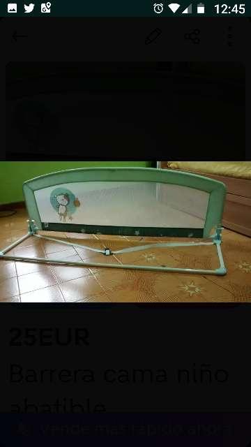 Imagen barrera para cama niños abatible