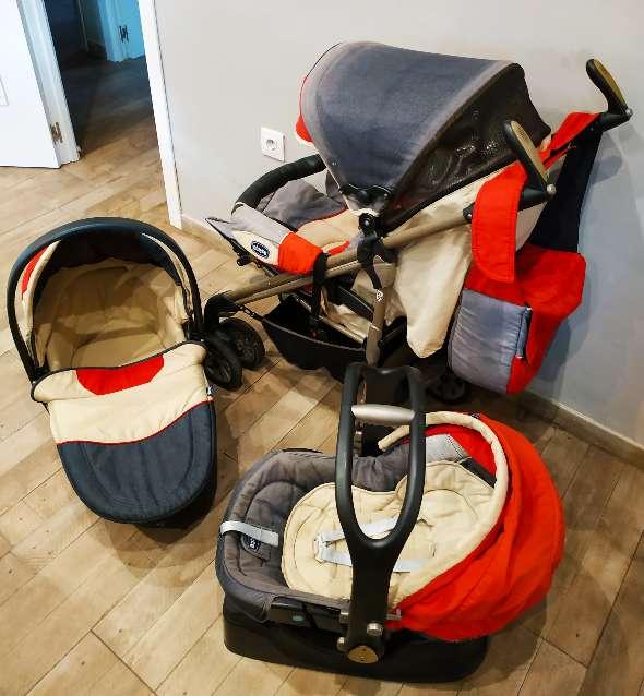 Imagen producto Trío Chicco bebé (Maxicosi + silla paseo + capazo) 1
