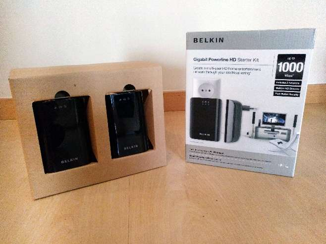 Imagen Belkin Gigabit powerline HD startet kit