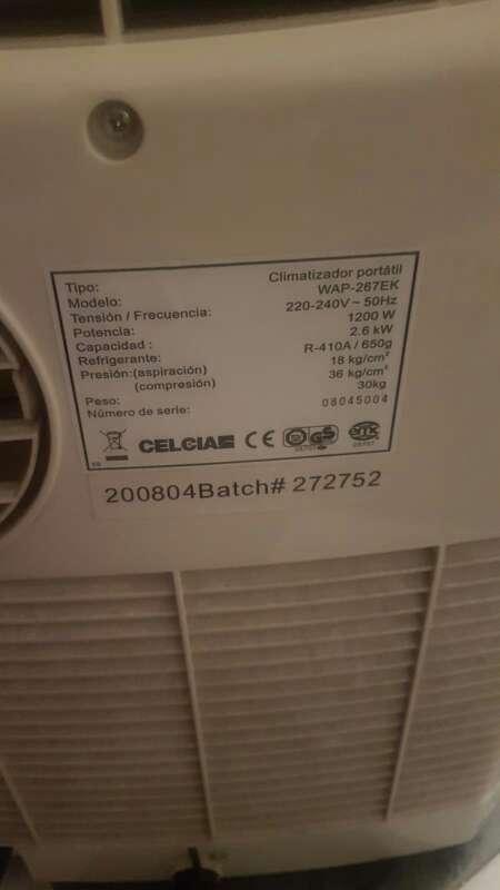 Imagen producto Climatizador de aire acondicionado portatil 5