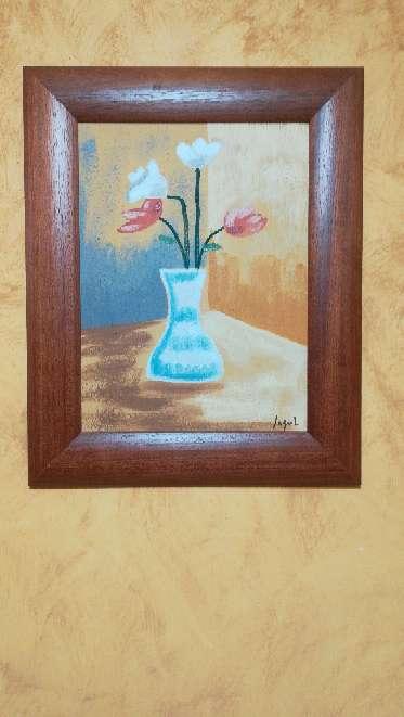 Imagen 3 cuadros de jarrón con flores