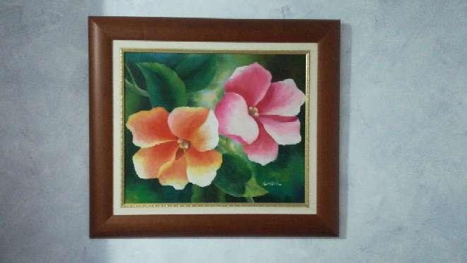 Imagen 2 cuadros de flores