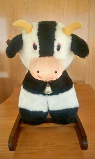 Imagen producto Balancín Vaca de madera 1