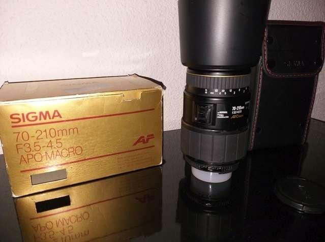 Imagen Obgetivo Sigma Montura Nickon 70-210mm.