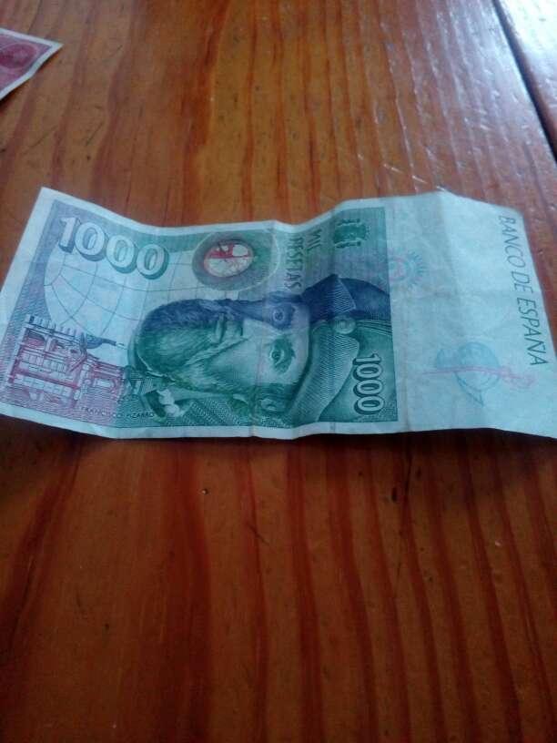 Imagen billete en pesetas