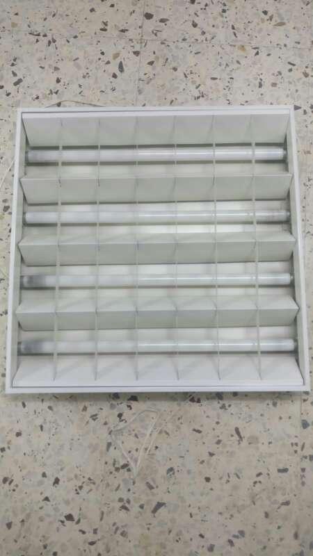 Imagen Pantallas aluminio empotrables( LUZ 4 TUBOS)
