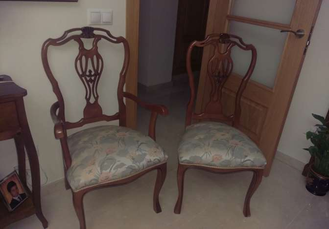 Imagen producto 2 Sillones y 4 sillas madera clásicos 2