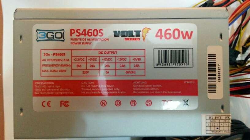 Imagen Fuente de alimentación ordenador 460W casi nueva.