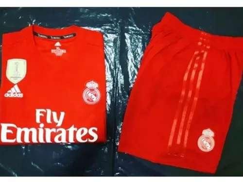 Imagen Kids niños Real Madrid 2019 coral 3 equipacion