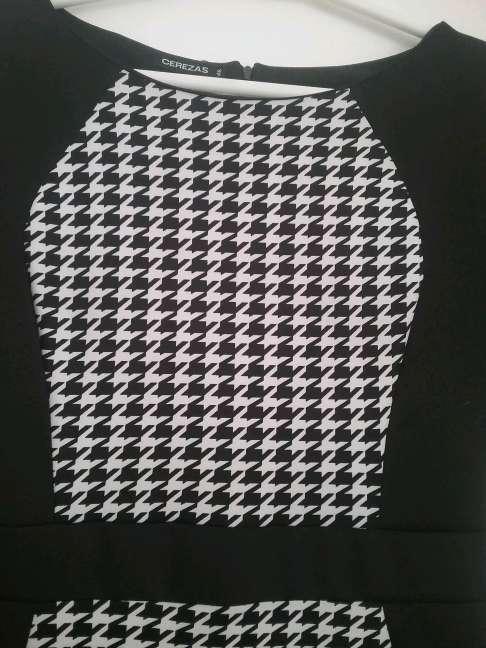 Imagen producto Vestido negro y blanco  3