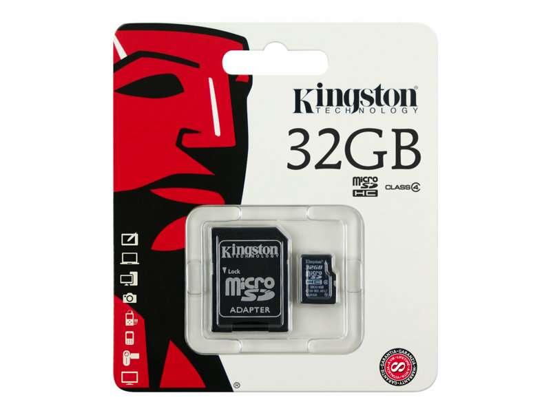 Imagen Tarjeta memoria Kingston 32 GB       sdc4/32 gb