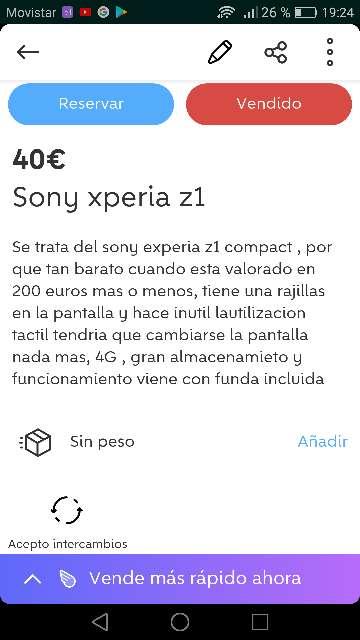 Imagen producto Sony experia Z1 4