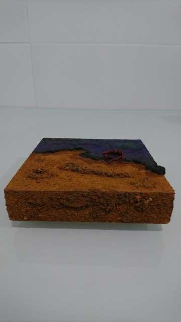 Imagen Cuadro con óleos, pigmentos y tierras de origen natural.